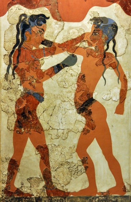 Boksers uit Thera (Nationaal Archeologisch Museum, Athene)