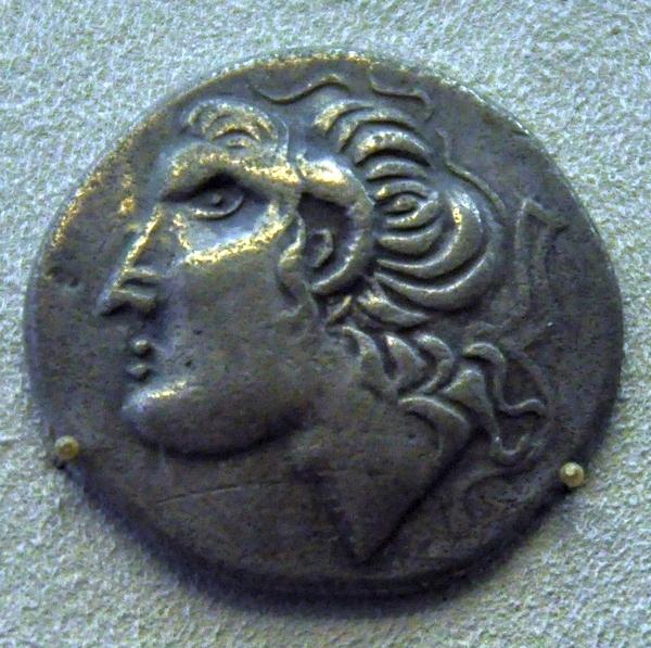 Keltische imitatie van een munt van Alexander (Bode-Museum, Berlijn)