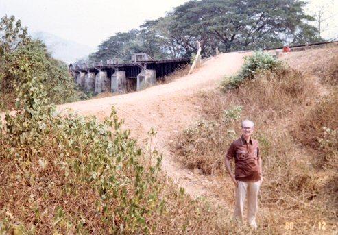 De auteur en de brug in 1980