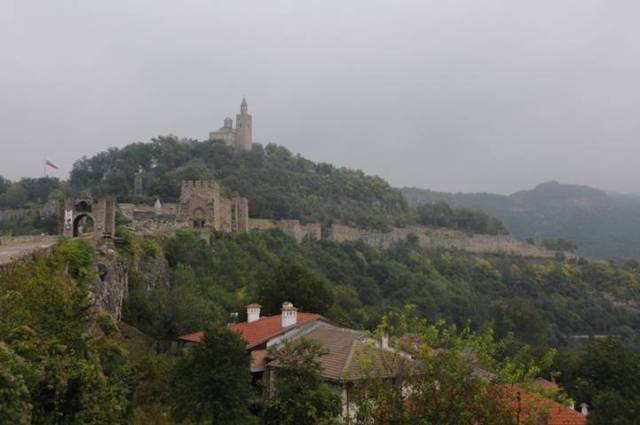 De citadel van Velkiko Tarnovo (Bulgarije)