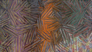 Jasper Johns, Between the Clock and the Bed, 1981. Fte: MoMA