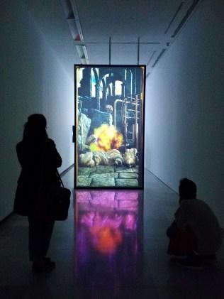 Marina Núñez, El fuego de la Visión. Sala Alcalá 31. Vista de la exposición.