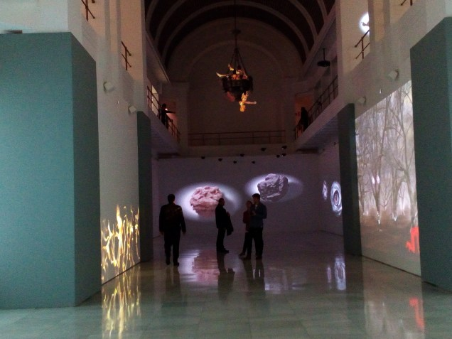Marina Núñez, El fuego de la Visión. Sala Alcalá 31. Vista general de la exposición.