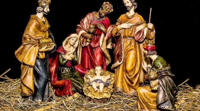 Crèche et messe dans l'église le 16 décembre