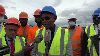 Le Premier ministre Patrick Achi s'imprègne de l'avancement des travaux du grand marché de Bouaké