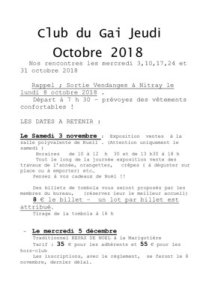 thumbnail of Bulletin d'octobre 2018