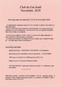 thumbnail of Bulletin de novembre 2018