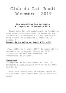 thumbnail of Bulletin de décembre 2019