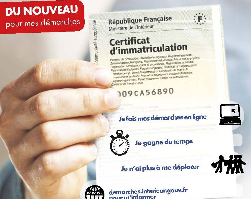 Démarches Certificat d'Immatriculation automobile ANTS