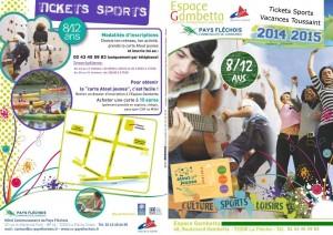 présentation tickets sports vacances de toussaint