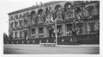 Treasury building bedecked with patriotism 20s/30s