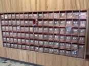 postboxes newly moved inside and renovated 2014