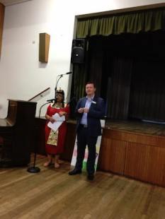 Gabrielle with Tim Richardson MP