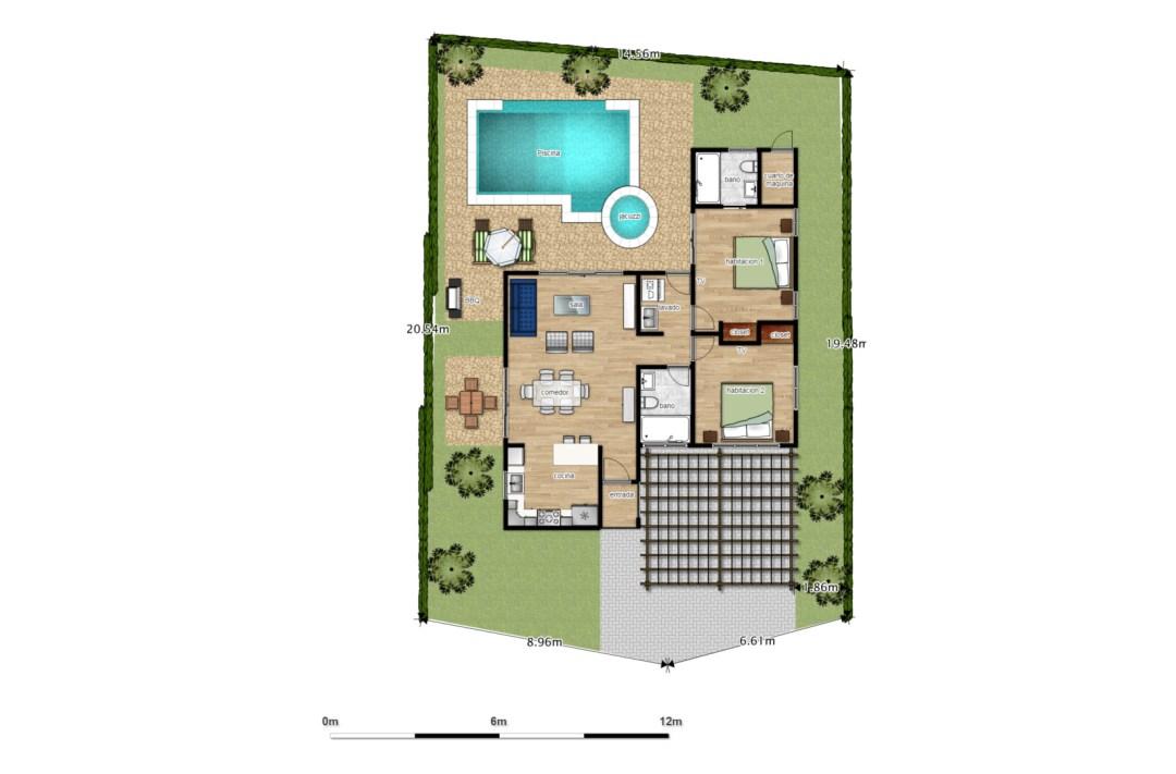 Villas Las Palmas - Tipo A (100 m²)