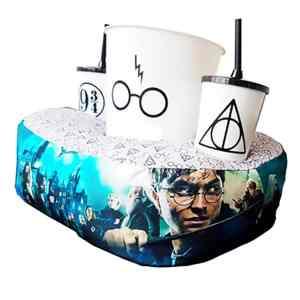 Kit Cinema Almofada Porta Pipoca Harry Potter