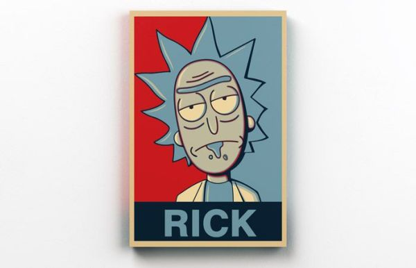 Quadro Rick and Morty Blue