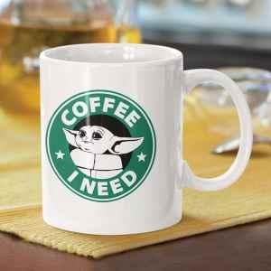 Caneca Coffee I Need Yoda Star Wars