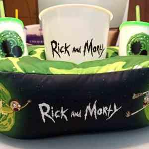 Kit Cinema Almofada Porta Pipoca Rick And Morty