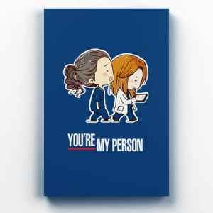 Placa Decorativa de Metal You're My Person