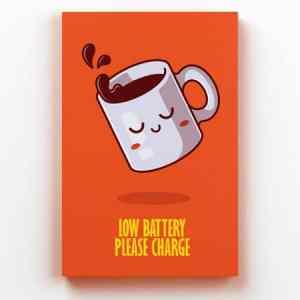 Placa Decorativa de Metal Bateria Fraca