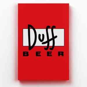 Placa Decorativa de Metal Duff Beer