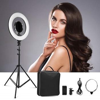 Oferta Amazon! Anel de Luz LED para Make-up e Fotografia com 36cm de diâmetro por 45,9€