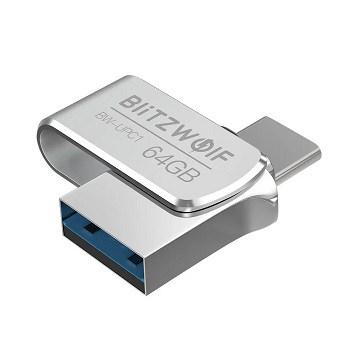 Pendrive Blitzwolf 2 em 1, Type-C USB 3.0 64GB por 6,9€