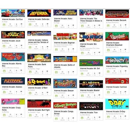 São mais de 1500 jogos arcade para jogar online grátis