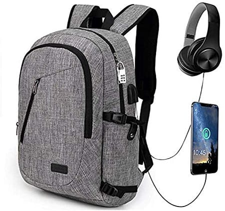 Mochila ideal para laptop de 15.6″ com porta USB a 11,39€