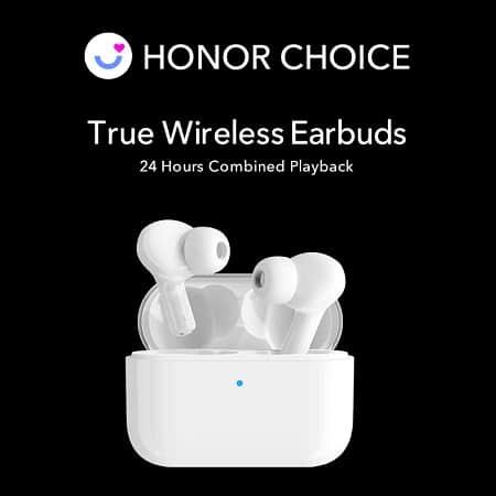 Auriculares Honor TWS Earbuds X1, Autonomia para 6 horas de reprodução por 21€
