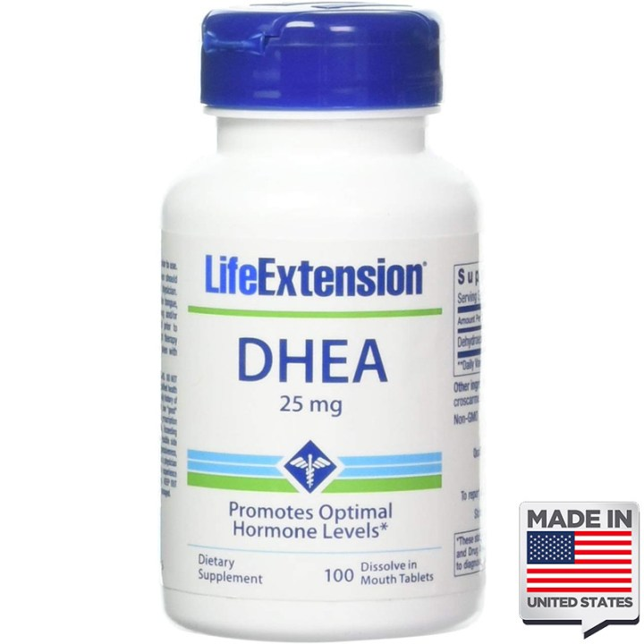DHEA 25mg sublingual life extension