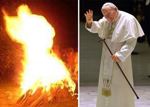 Papa João Paulo II no Inferno