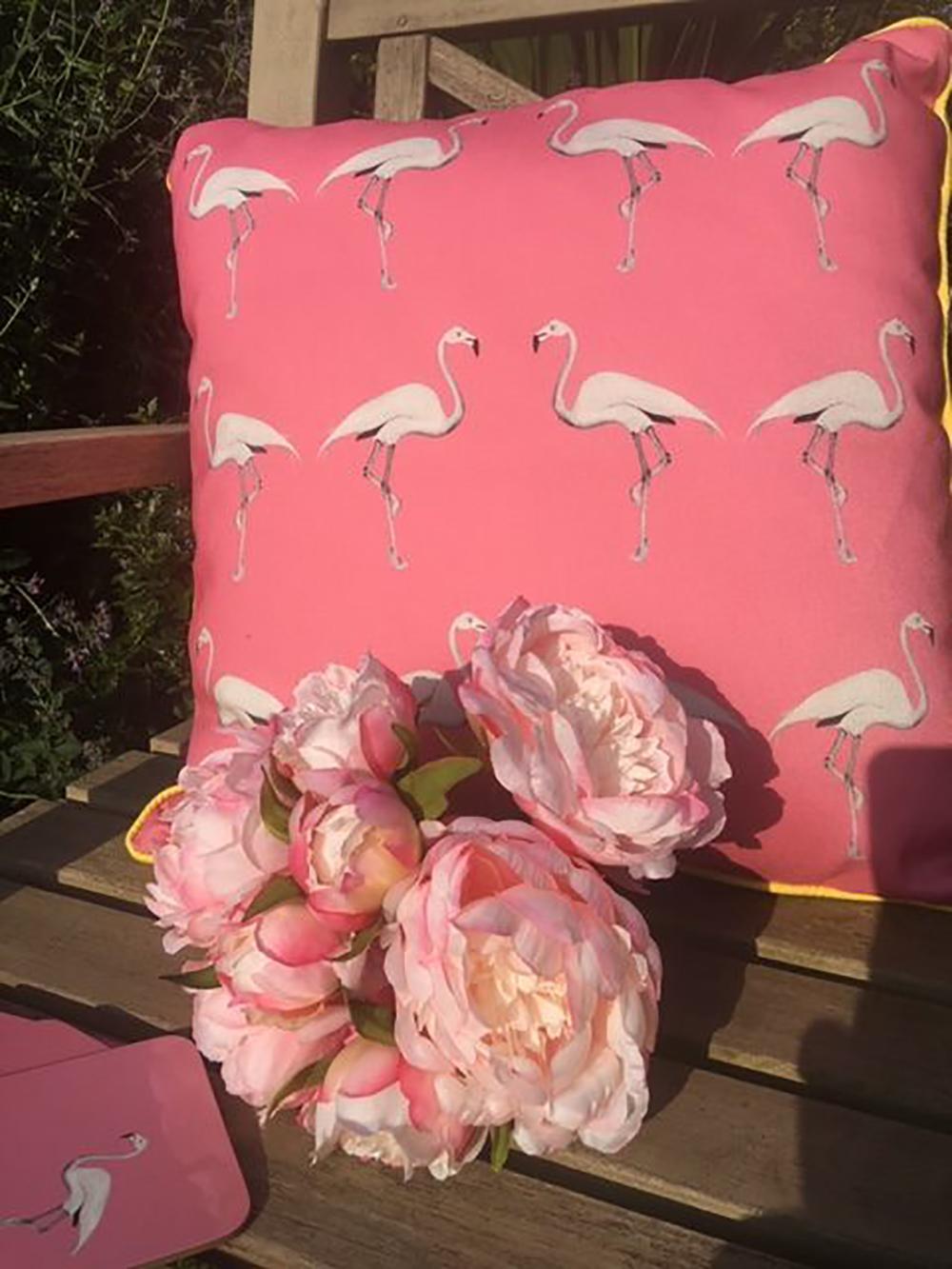 Miami Pink  Flamingo Cushion