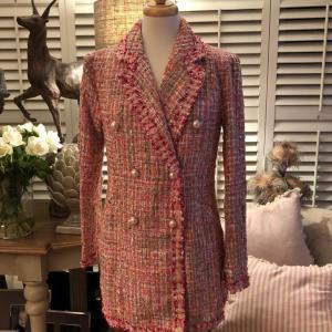 Pink Tailored Tweed Jacket