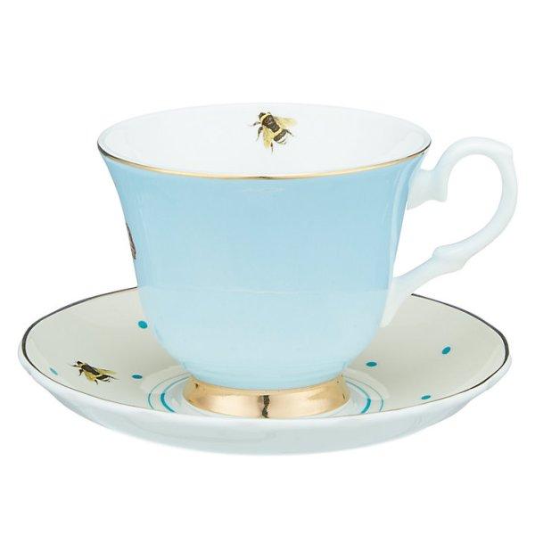 Yvonne Ellen Zebra and Parrot Teacup and Saucer_Back