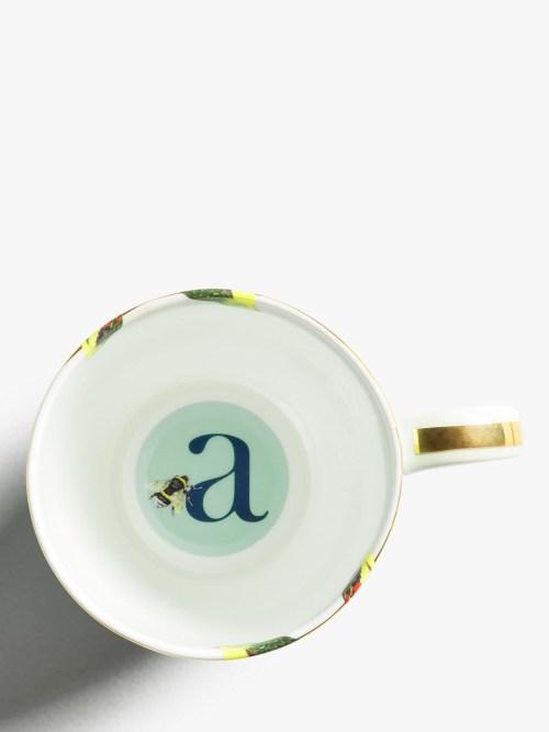 Yvonne Ellen Alphabet Mugs - A Inner
