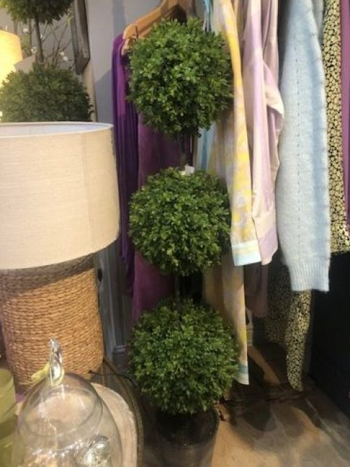 Artificial Triple Ball Shaped Topiary Plant