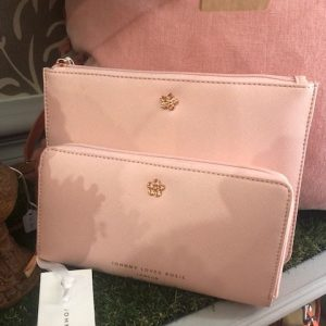 Blush Jewelled Medium Pouch & Purse