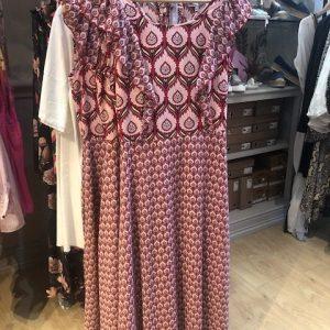 Pink/Purple Floral Pattern Long Dress