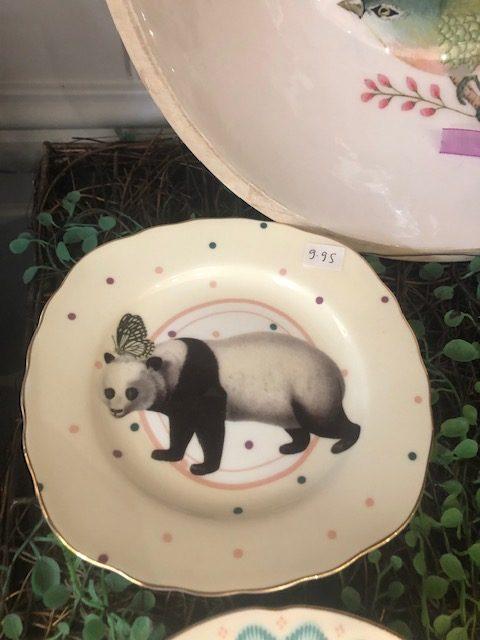 Pretty Pastel Animal Cake Plates, Panda
