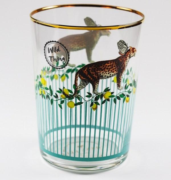 Yvonne Ellen Hi Ball Glasses - Leopard