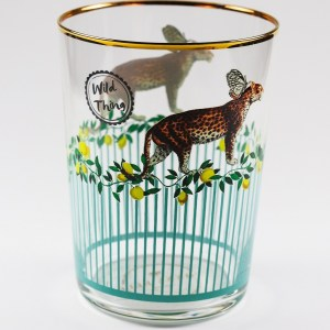 Yvonne Ellen Hi Ball Glasses - Leopard