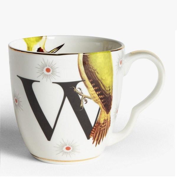 Yvonne Ellen Alphabet Mugs - W