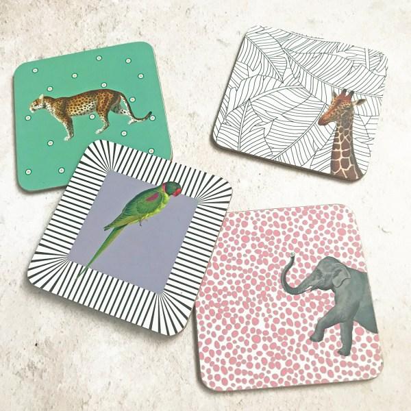 Animal Coasters, Set of 4