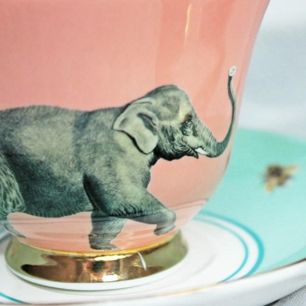 Yvonne Ellen Elephant Teacup and Saucer set_Detail