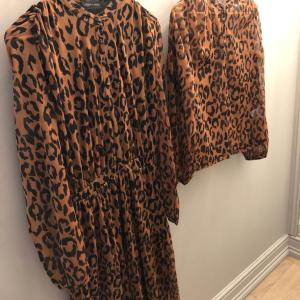 Brown Leopard Print Bomber Jacket