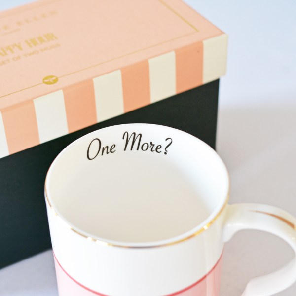 Yvonne Ellen 'Happy Hour' and 'Bonjour' Mugs, Set of 2_Inside Detail