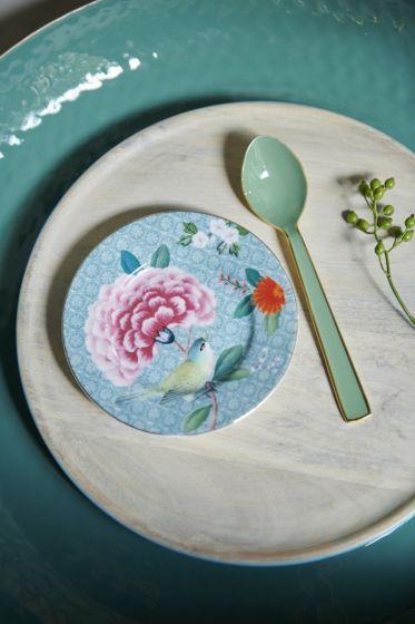 Blushing Birds Blue Petit Four Plate 12 cm