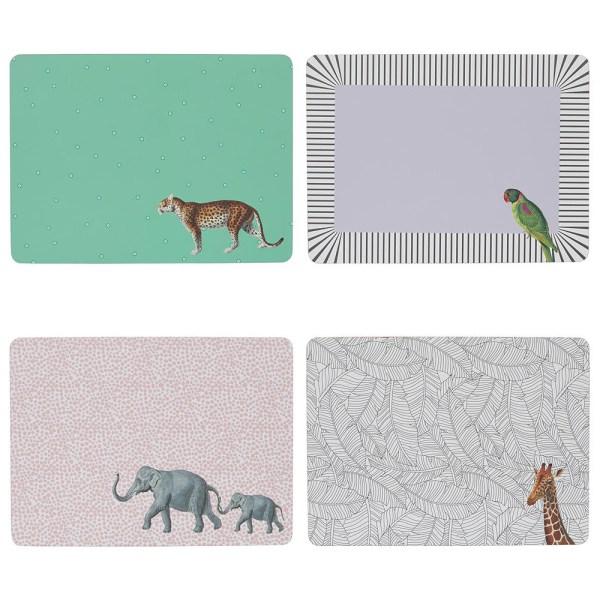 Yvonne Ellen Animal Placemats, Set of 4