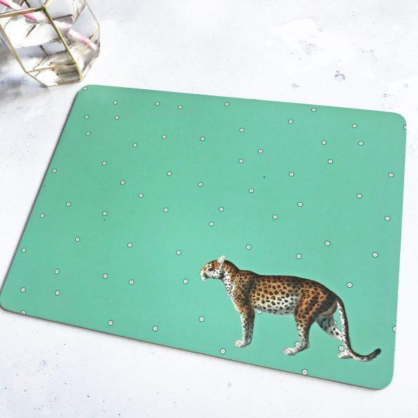 Yvonne Ellen Animal Placemats, Set of 4_Leopard